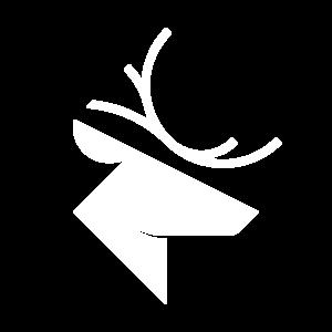 Reise-Hirsch Logo in weiß
